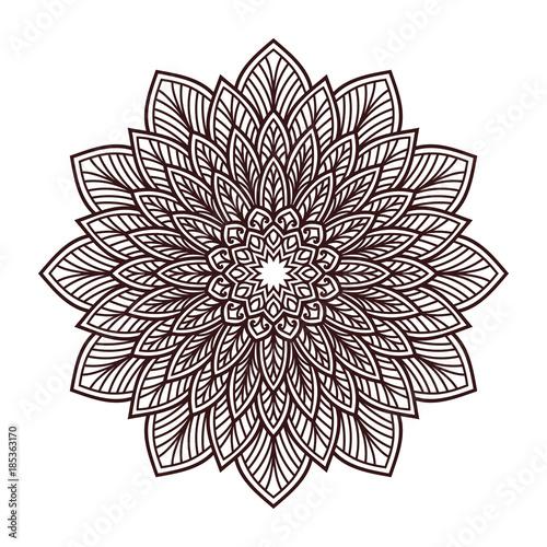 Mandala Ornament Yoga Beauty Spa Henna Logo Vector Buy This Stock