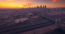 Aerial View Los Angeles River ...