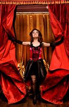 Elegant Dancer In Moulin Rouge...