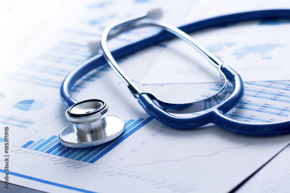 Fototapeta stetoscopio, salute, medicina, controllo, analisi