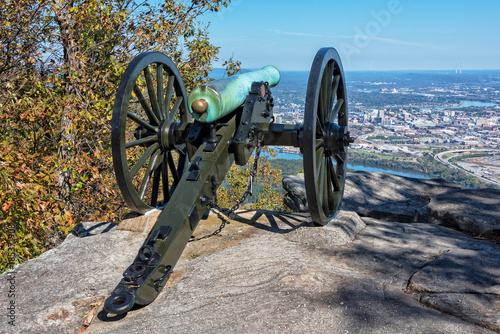 Photo Civil War Cannon Overlooking Chattanooga Tennessee