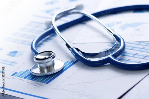 stetoscopio, salute, medicina, controllo, analisi Wallpaper Mural
