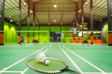 Badminton Courts With Shuttlec...