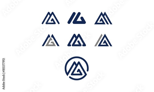 Photo  m MGemblem symbol icon vector logo