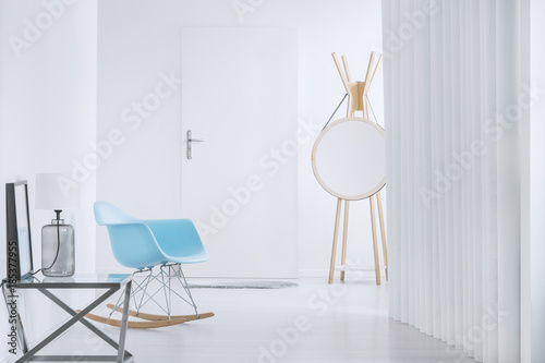 Photo Designer rocking chair in antechamber