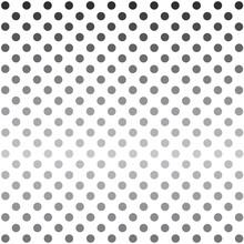 Halftone Grey Dots Background- Vector Illustration