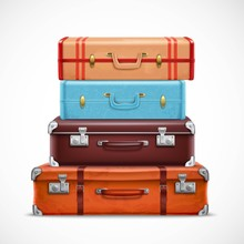 Retro Travel Luggage Suitcases...