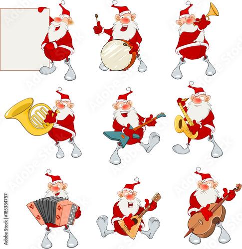 Papiers peints Chambre bébé Cartoon Illustration of Santa Claus for you Design. Cartoon Character