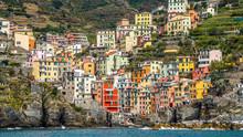 View From The Sea Of Riomaggiore, Cinque Terre, Italy