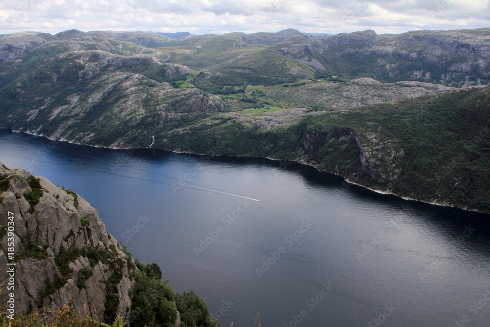 Norwegen, Landschaft, Gebirge, Natur, Fjord, See, Skandinavien
