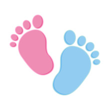 Baby Footprint Pink And Blue. ...