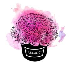 Beautiful Flower Box Vector Ha...
