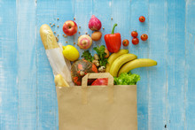 Paper Bag Of Different Health ...