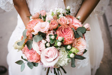 Bride With Bouquet, Closeup