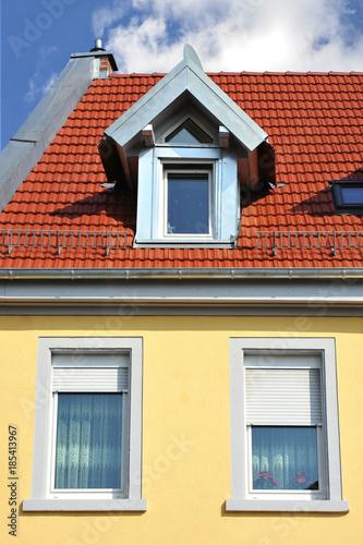 Ziegeldach Und Mit Metall Verblendeten Dachgaube Buy This Stock