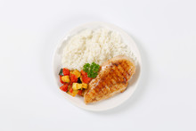 Turkey Breast Fillet With Rice...