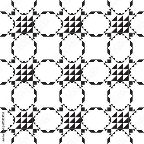 Black And White Geometric Simple Minimalist Pattern Line Background