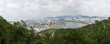 Panoramic view of Sanya City on Hainan Island, view from the park Deer Turned Head or Lu Hui Tou Gong Yuan
