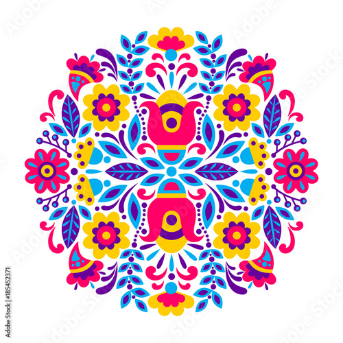 geometric ethnic decoration Canvas-taulu