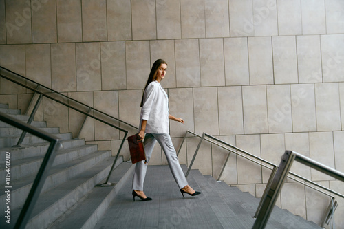Business Women Style. Woman Going To Work