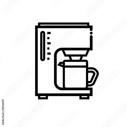 Cuadros en Lienzo Coffeemaker vector icon