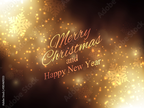 christmas new year background gold glitter stardust background vector illustration