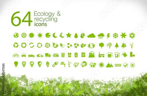 Iconos Medio ambiente (verde)