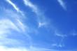 Line coulds on vast sky