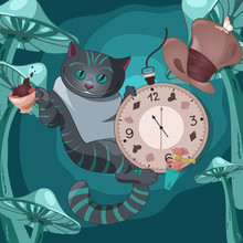 Illustration Of Cheshire Cat O...
