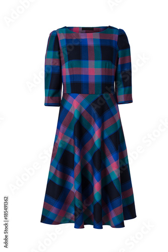 38cd4b29d51 Checkered dress isolated on white background - Buy this stock photo ...