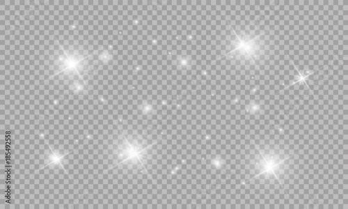 Fotografía  Glow light effect. Vector illustration. Christmas flash Concept.