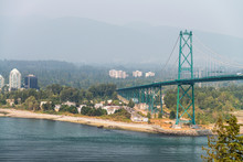 Lions Gate Bridge From Stanley...