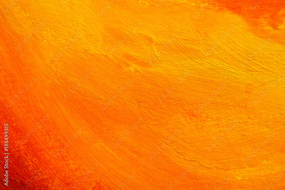 Fototapety, obrazy: Painted Color Background, Abstract Orange Paint Texture