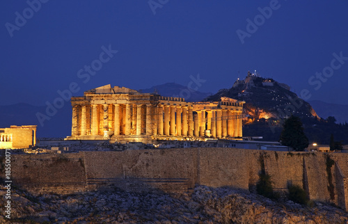 Poster Athene Parthenon at Acropolis of Athens. Greece