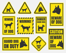 Danger Dog Signs, Beware Of Do...