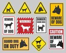 Warning Dog Sign, Beware Of Do...