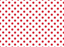 Large Red Dots On White Background