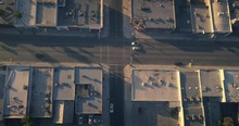 Aerial View Melrose Ave Street...