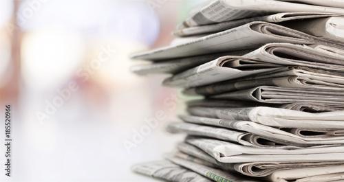 Fotografie, Obraz  Stack of newspapers on background