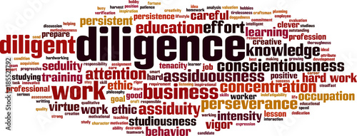 Diligence word cloud Canvas Print