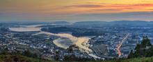 Ferrol Estuary Panorama Galicia Spain