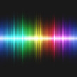 canvas print picture - Illustration of colorful sound waves. 2D seamless image.