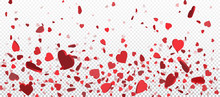 Red Flying Heart Confetti, Val...
