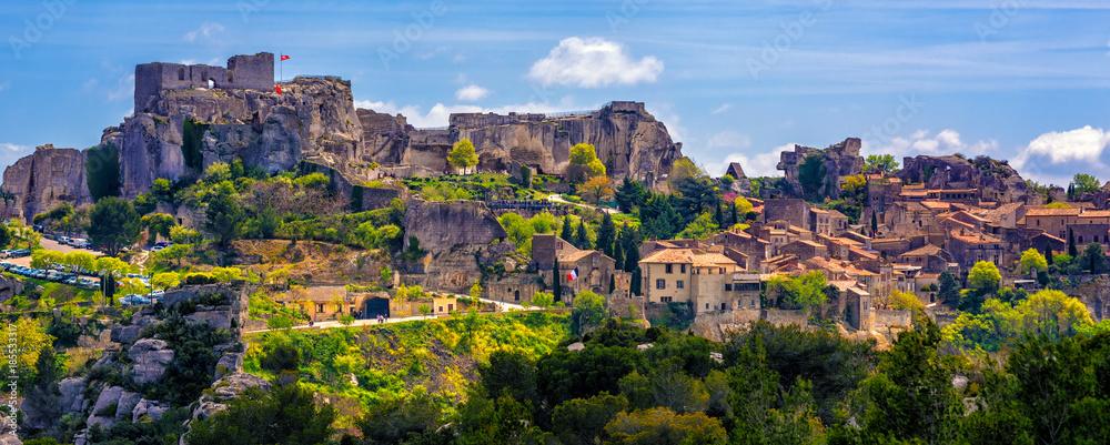 Fototapeta Les Baux-de-Provence village, Provence, France