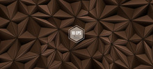 Triangular Abstract BG In Brown Color