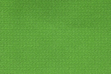 Close Up Background Pattern Of Green Textile Texture, Abstract Color Textile Net Pattern Texture.
