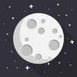 Mond Flat Design Icon