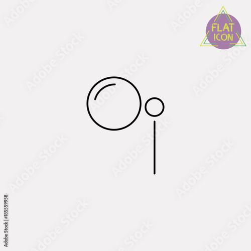 Obraz na plátně monocle line icon