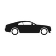 Car vector icon. Isolated simple side car logo illustration.