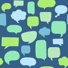Speech Bubbles Seamless Pattern. Texture For Wallpaper, Fills, Web Page Background.